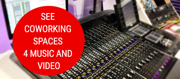 coworking spaces for music and video